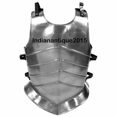 Armor Medieval Knight Steel Body Armor Roman Muscle Plate Cuirass Leatther Strap
