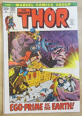 Thor #202 (Aug 1972, Marvel) VF- 7.5...Free Shipping!!!