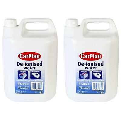 CarPlan De-Ionised Water 5L Top Up Car Battery Distilled Water and Steam Irons