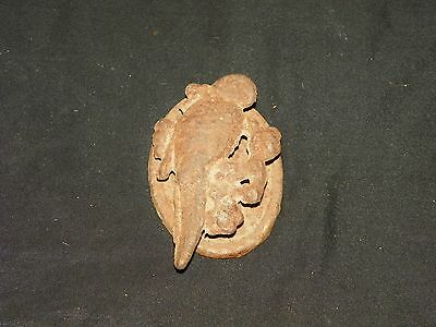 Vintage Antique Rustic Cast Iron Door Knocker Bird Parrot