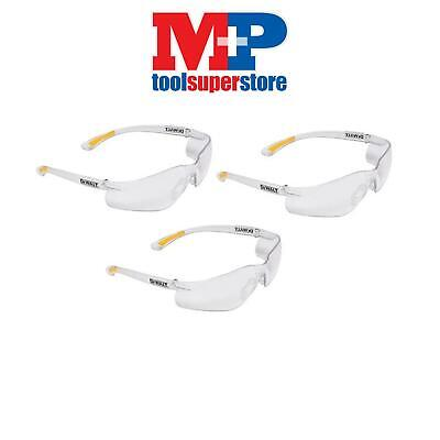 DEWALT SGCPC Contractor Pro ToughCoat Safety Glasses - Clear *PACK OF 3*