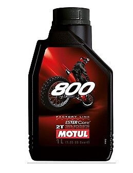 Huile MOTUL 800 moto cross enduro Off Road Factory 1 litre 2 temps