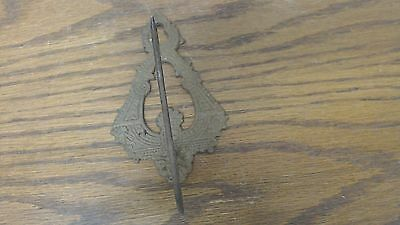 Antique Metal Ornate Victorial Bill Receipt Letter Paper Spike Wall Hook P18