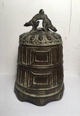 Antique Chinese Bronze Dragon Beast Bell Oriental Asian