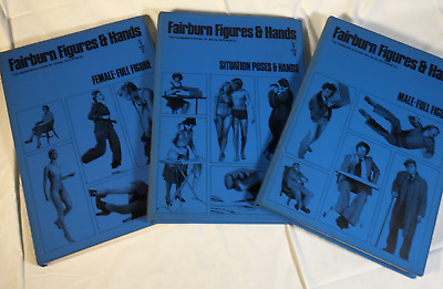 Fairburn Figures Hands Visual Art Artist Illustrator Reference 3 Book 1978 SET
