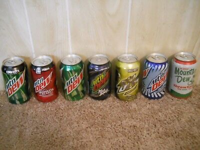 Mountain Dew Collector Cans Pitch Black, Lemonade, Sangrita Blast Discontinued