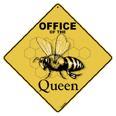 BEE CROSSING SIGN queen office decor hive apiary honey painting picture  novelty
