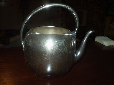 RARE Antique STERLING SILVER plated  TEA POT  6.5""