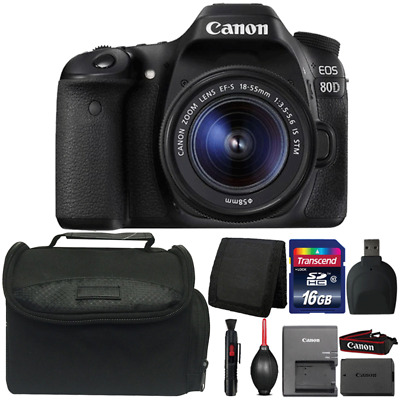 Canon EOS 80D DSLR Camera with 18-55mm IS STM Lens and Accessory Bundle