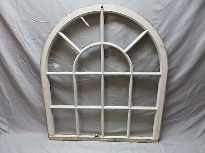 Large Wide Antique Arched Dome Top Palladian Window Old Vintage 46x41   85-18P