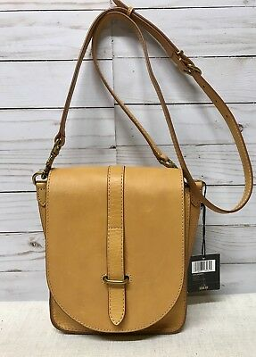 FRYE Ilana Crossbody Leather Messenger Bag Yellow One Size DB612