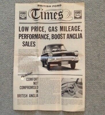 1961 Vintage British FORD ANGLIA Advertising Brochure-Exc. Cond.
