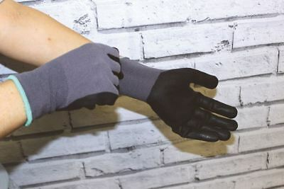 Horseware Ireland Coated Gloves Smooth Grip 2pk Grey/Black CGHO60