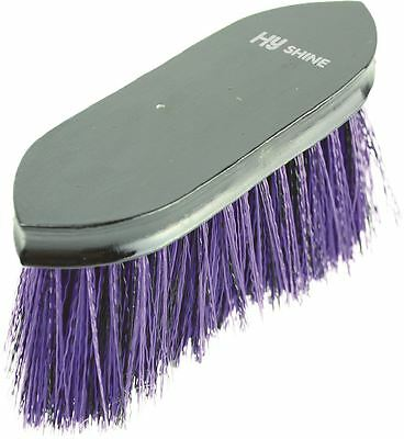 HySHINE Wooden Horse Pony Grooming Flick Dandy Brush- Black/ Purple 4499