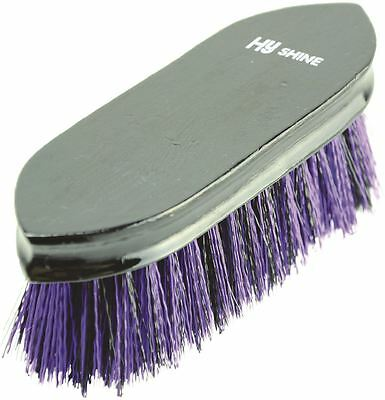 HySHINE Wooden Horse Pony Grooming Dandy Brush- Black/ Purple 4474