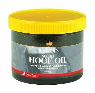 Lincoln Solid Hoof Oil for Horses & Ponies - Hoof Care 400g 4099
