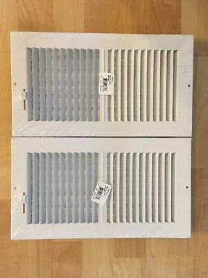 Hart & Cooley 043836 Lot of 2 White Register Vent Diffuser  NEW