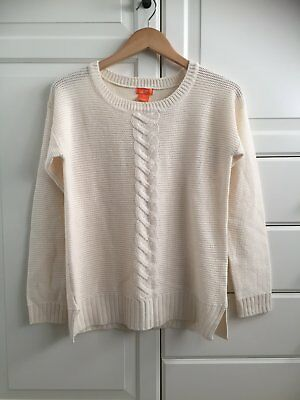 Women's Joe Fresh Ivory Knitted Sweater Size Small NWOT