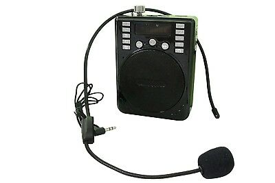 Rechargeable Voice Amplifier Waist/Neck Band & Belt Clip Tour Guides, Teachers,