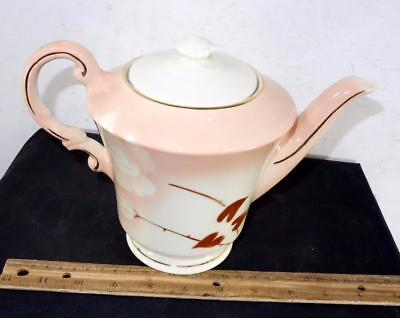 Vintage Syracuse China Madam Butterfly Tea Coffee Pot w/ Lid Airbrushed Flower