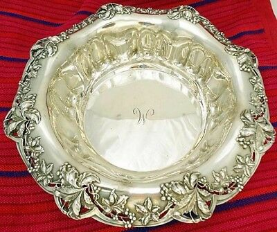 Antique Tiffany & Co Openwork St Silver Large Bowl Dish Centerpiece (#5167)