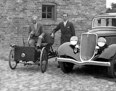 Inventor Ford Motor Company HENRY & EDSEL FORD Glossy 8x10 Photo Model T Print