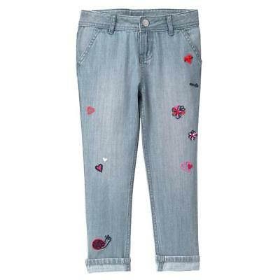Gymboree Girls Jeans Hearts Embroidered 4 5 6 7 8 10 12 $34.95 NWT