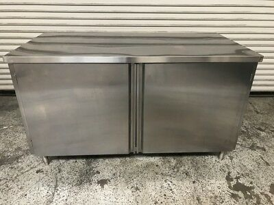 60x30 Stainless Steel Cabinet #7649 Commercial Restaurant Storage Work Top