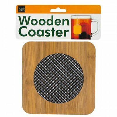 Wooden Coaster With Basketweave Pattern 6 X 6 Lot/12 Units New