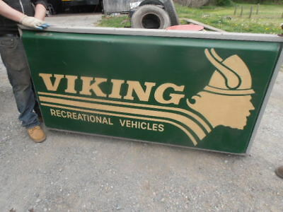 "Outdoor Viking Recreational Vehicles Advertising Sign Light Up 73"" Long 2 Sided"