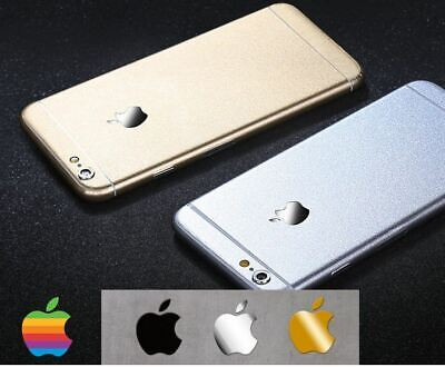 1x/2x/5x Apple iPhone Silver/Gold/Black Metal Sticker 13x15mm & 15x17mm X Plus