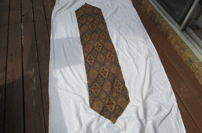 """Tapestry Table Runner w/ beaded accents Boho.o Brown blue red 13.25"""" x 68"""" S104"""