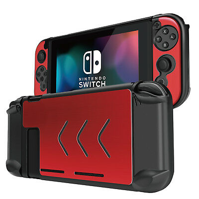 Nintendo Switch H lle f r Konsole  amp  Joy Con Controller   Hartschale  Rot