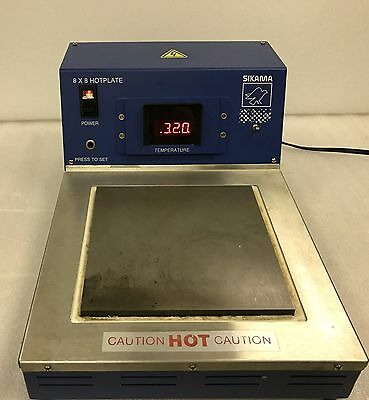 """Sikama 8"""" x 8"""" Hot Plate / 350 C / - Excellent Condition - 6 month warranty"""