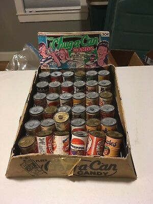 Vintage 1980 Fleer Chug-A-Can Candy Series 1 Store Display - Wacky Packages