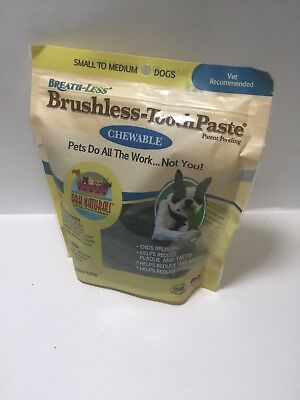 Ark Naturals Breath-less Brushless-ToothPaste Chewable Small To Medium Dogs 12oz
