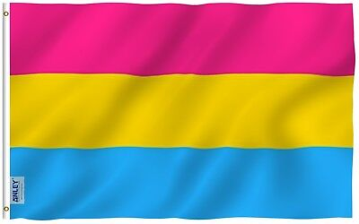 ANLEY Fly Breeze 3x5 Foot Pansexual Pride Flag Omnisexual LGBT Flags Polyester