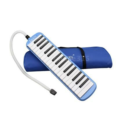 32 Piano Keys Melodica Musical Instrument for Beginners Gift with Bag Blue N9W1