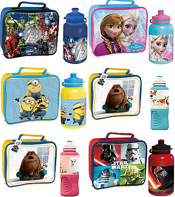 DESPICABLE ME MINIONS INSULATED THERMAL LUNCH BAG BOX SCHOOL BOYS BLUE TEMPLAR