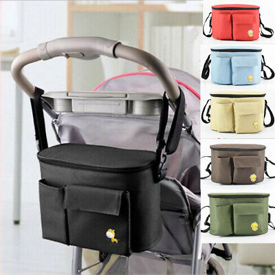 Baby Pram Stroller Pushchair Holder Storage Bag Mummy Diaper Nappy Cup Organizer