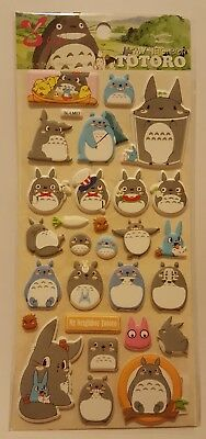 Puffy Kawaii My Neighbor Totoro Puffy Stickers Sheet Stationary