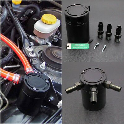 Racing Car Baffled 3-port Oil Catch Can/Tank/Air-Oil Separator 0.4L/400ML