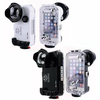 Seafrogs 60m/195ft Waterproof Underwater Housing Case W/ Wide Angle For iPhone 7