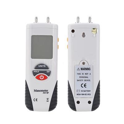 HT-1890 Digital Manometer Differential Gauge Air Pressure Meter Data Hold F6C5