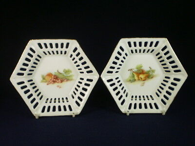 Fruits Small Pierced Dishes X 2