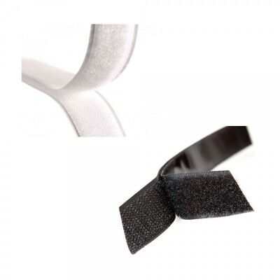 Milward 20mm or 50mm Black or White Hook and Loop Tape Sew On Or Stick On
