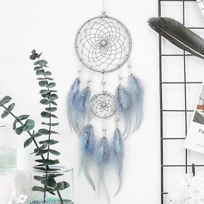 New Romantic Dream Catcher With Feather Pearl Wind Chimes Wall Hanging Decor