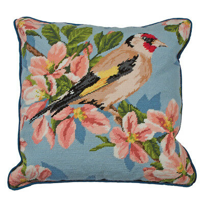 Goldfinch and Blossom : Anchor Tapestry Kit: Cushion : Living : - ALR72