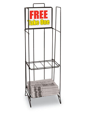 Quarterfold Literature Magazine Newspaper Display Rack Stand Store Lot of 2 New