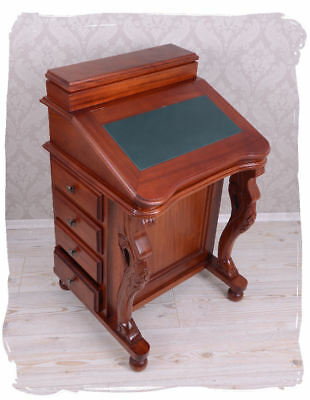 Secretary colonial style mahogany wood desk office table davenport four drawers